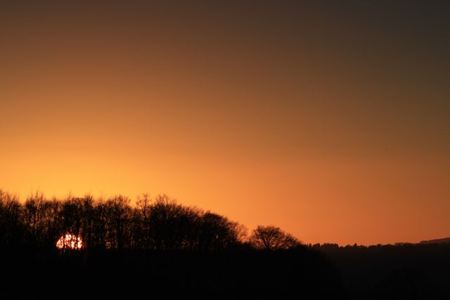 Early January Sunset in the Surrey Hills