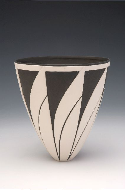 Penny Fowler Flared bowl with white sails