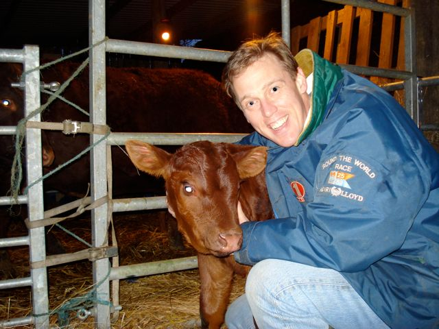 Tim with bull calf