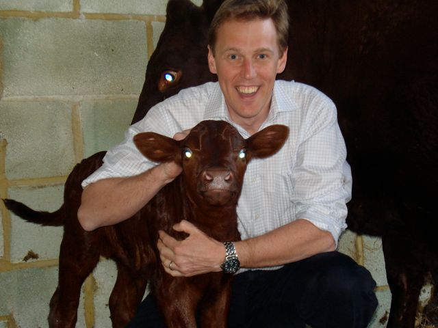 Tim with latest calf
