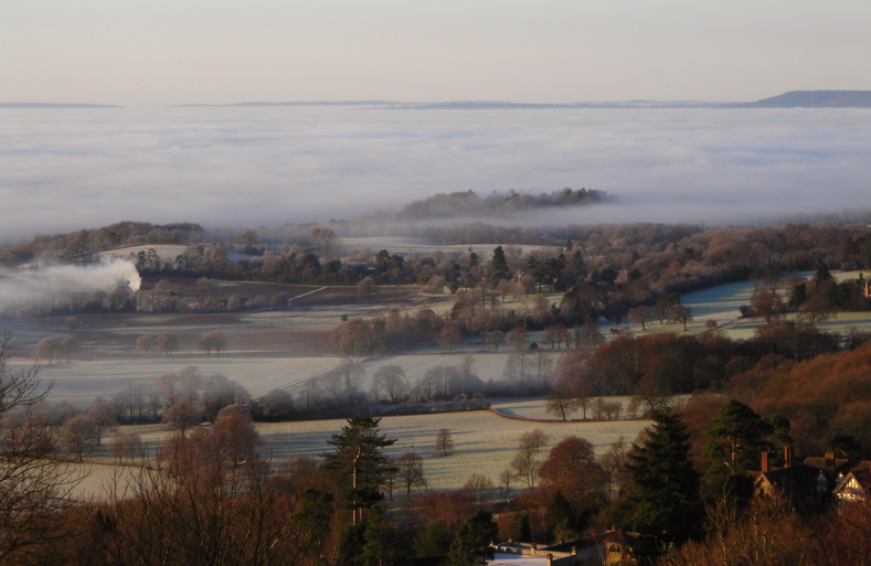 Mist over The Weald - by Mark Beaumont