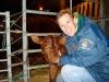 Tim with bull calf