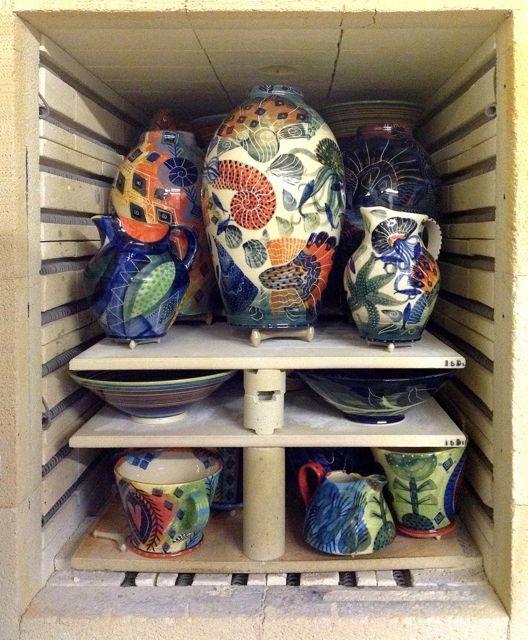 Ceramics in Kiln - Pru Green